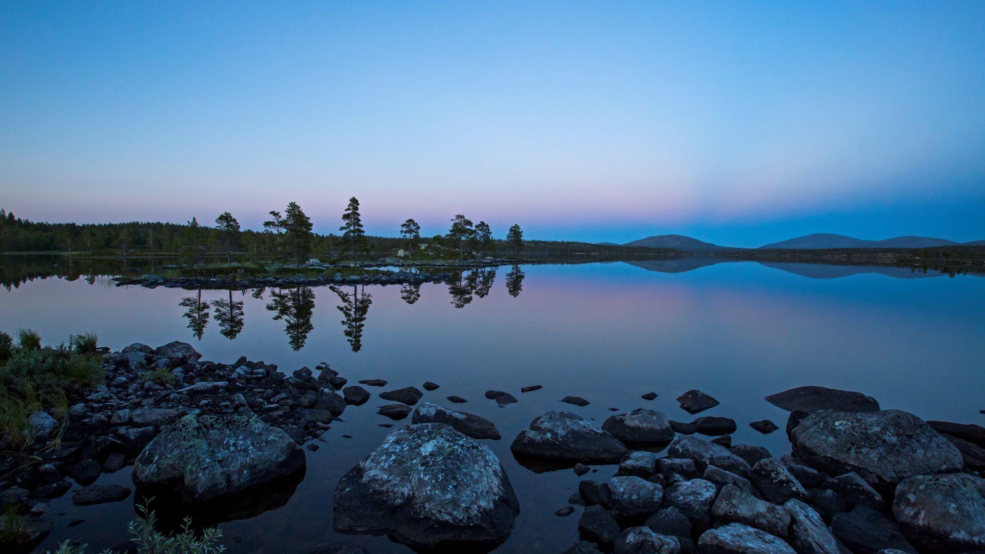 Roasten etter solnedgang. Foto: Tom Schandy